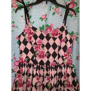 Hell Bunny Harlequin summer dress